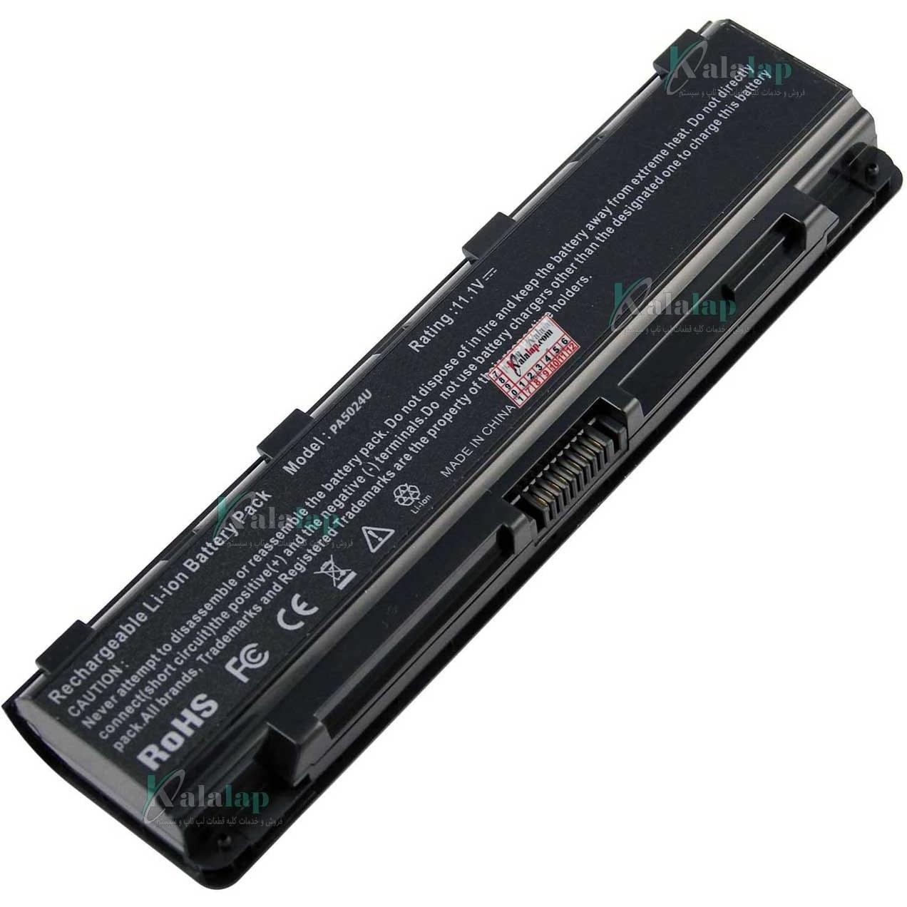 تصویر باتری لپ تاپ توشیبا PA5024U Battery Laptop Notebook Toshiba Satellite C55 C55Dt C55-A5300 C55Dt-A5241 C55t-A5222 C55-A5245