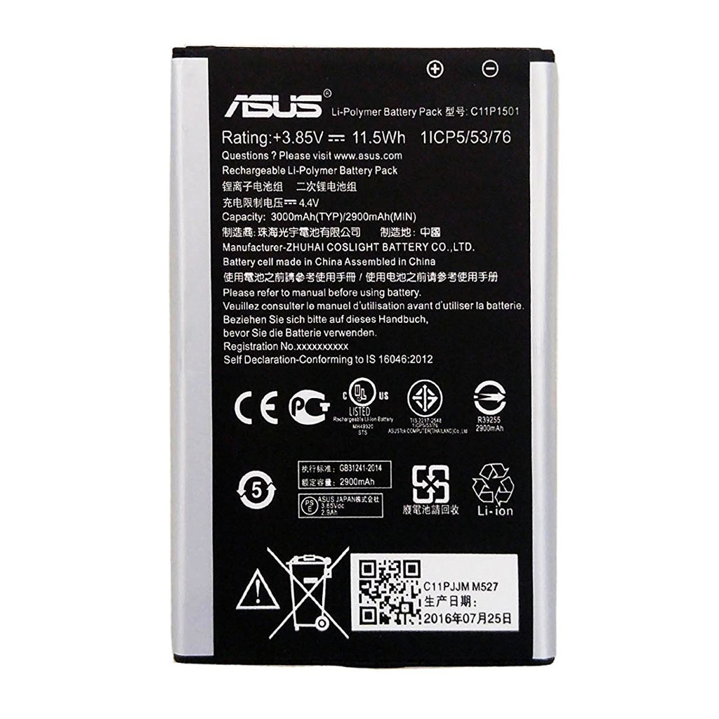 باتری اورجینال ایسوس Zenfone 2 Laser ZE550KL مدل C11P1501 ظرفیت 3000 میلی آمپر ساعت