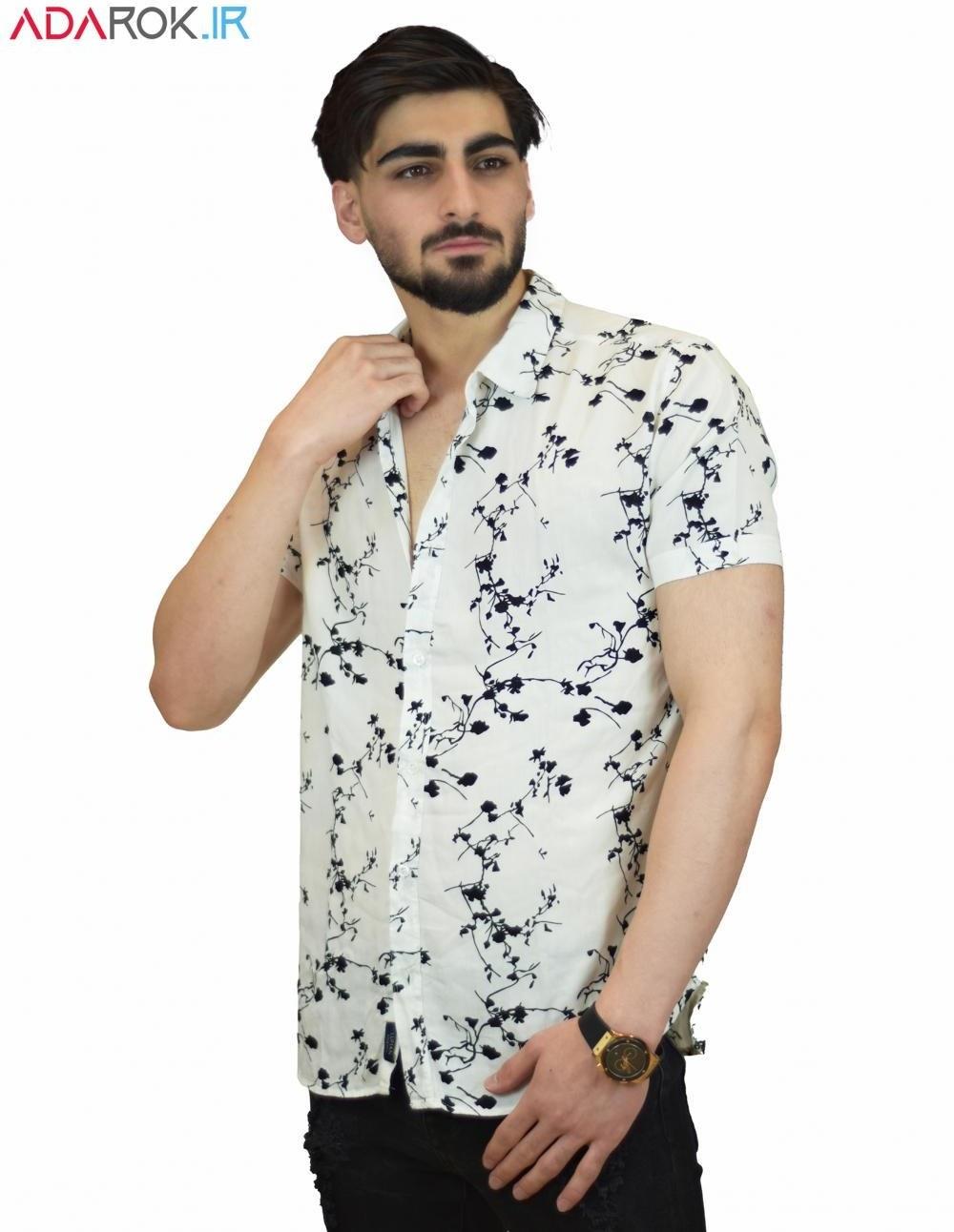 تصویر مشخصات، قیمت و خرید پیراهن هاوایی آستین کوتاه مردانه طرح گل - کد 131