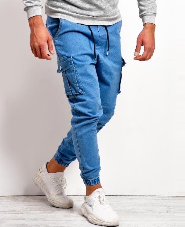 تصویر شلوار شش جیب مردانه مدل جین
