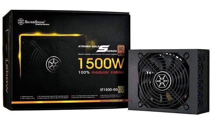 main images منبع تغذیه کامپیوتر سیلوراستون مدل Strider Gold S SST-ST۱۵۰۰-GS SilverStone Strider Gold S SST-ST1500-GS 1500W Power Supply