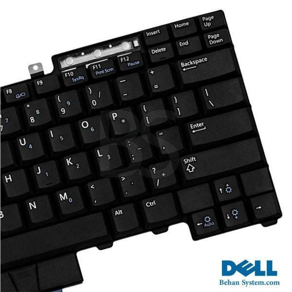 تصویر کیبورد لپ تاپ Dell مدل Latitude E6410 به همراه لیبل کیبورد فارسی جدا گانه