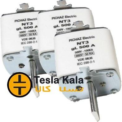 تصویر مجموعه سه تایی فیوز کاردی 315 تا 630 آمپر gG/gL پیچاز الکتریک NT3