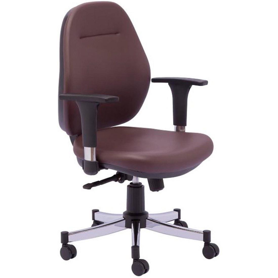 صندلی کارمندی و کارشناسی رایانه صنعت تندیس (P-722) با روکش چرم