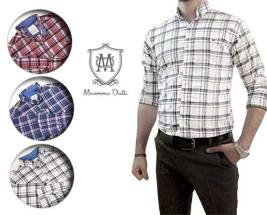 پیراهن مردانه چهارخانه Massimo Dutti