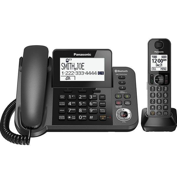 تصویر گوشی تلفن ثابت و بی سیم  پاناسونیک Corded-Cordless Combo Telephone KX-TGF380