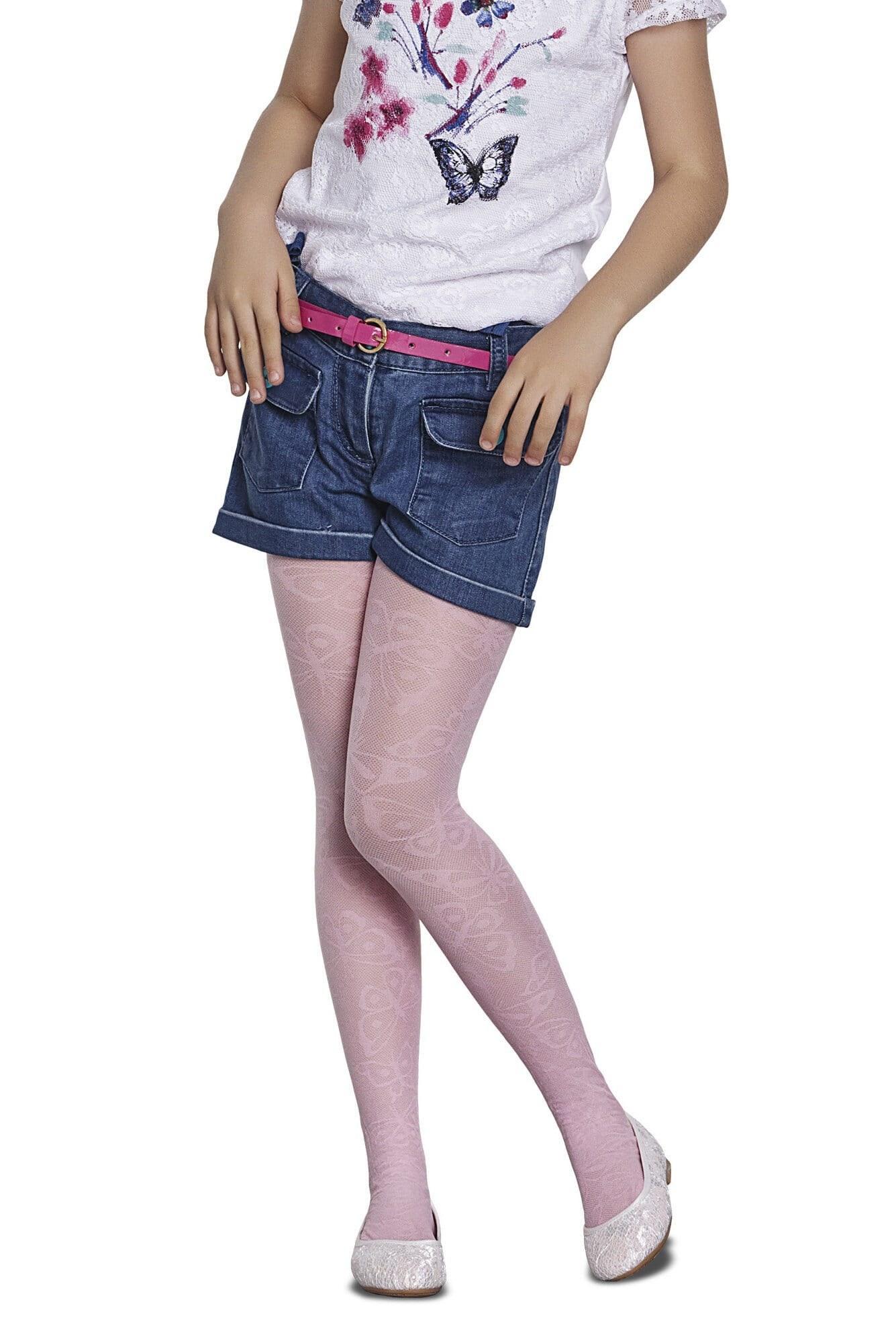 جوراب شلواری طرحدار دخترانه پنتی Patrice سفید  