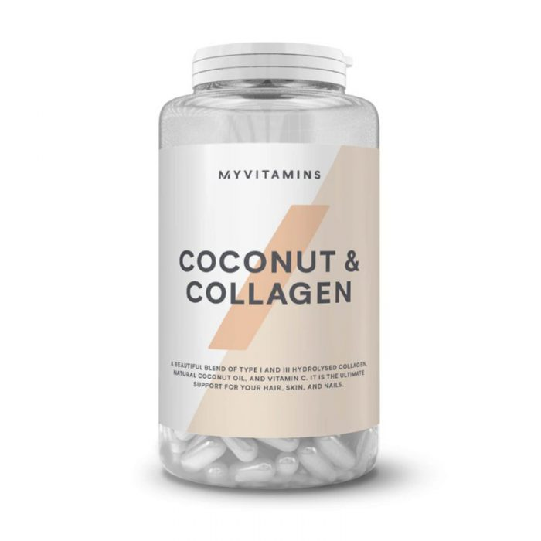 تصویر کپسول کوکونات کلاژن Myvitamins Coconut And Collagen