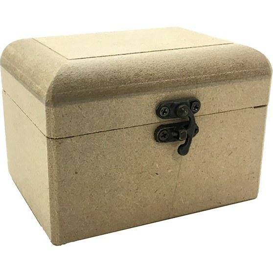 تصویر جعبه چوبی خام قفل دار کوچک 9*12