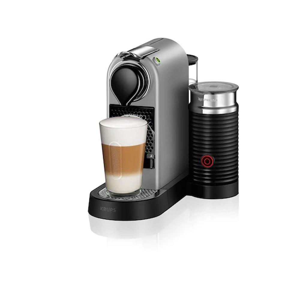 تصویر قهوه ساز نسپرسو سیتیز با شیر CitiZ & milk نقرهای
