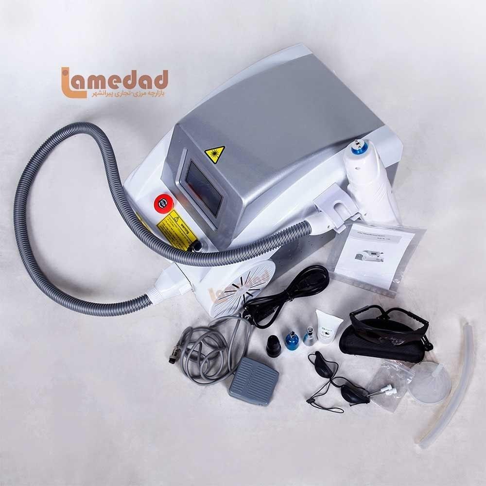 تصویر دستگاه لیزرکیوسوئیچ پاک کننده تاتو و لک مدل Q-Switch J-200 Q-SWITCH J-200