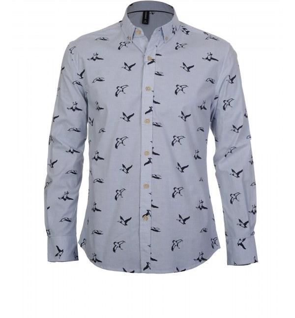 پیراهن مردانه آستین بلند جین وست