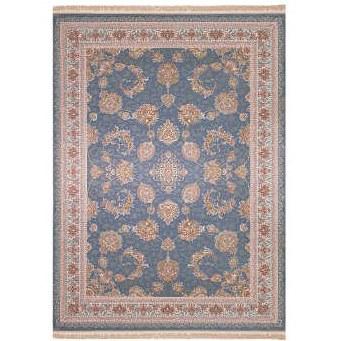 فرش ماشینی زمرد مشهد طرح افشان زمینه آبی |
