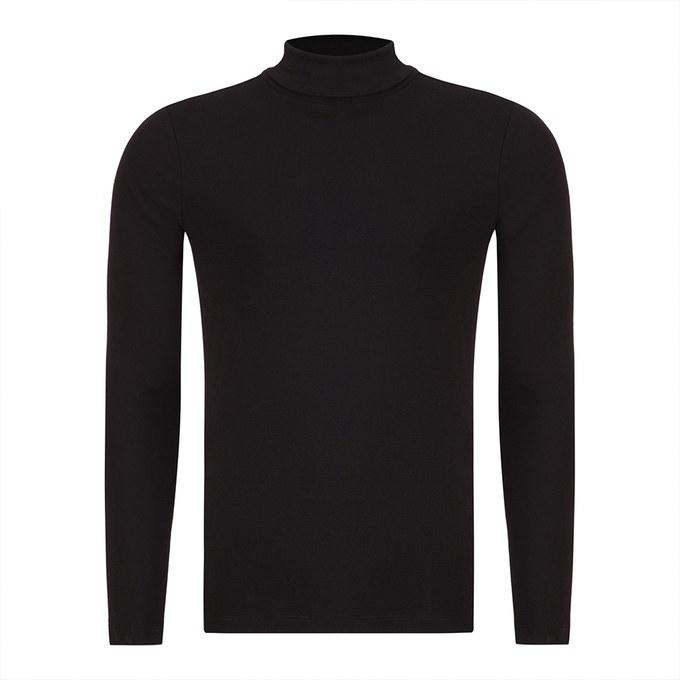 بلوز یقه اسکی مردانه - مشکی - Q-BLACK – 7220101, 3xl