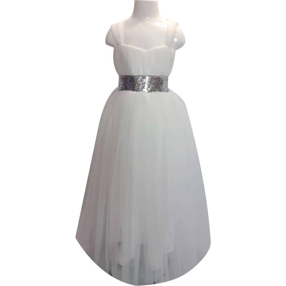 خرید اینترنتی لباس مجلسی دخترانه سفید رنگ از ترکیه