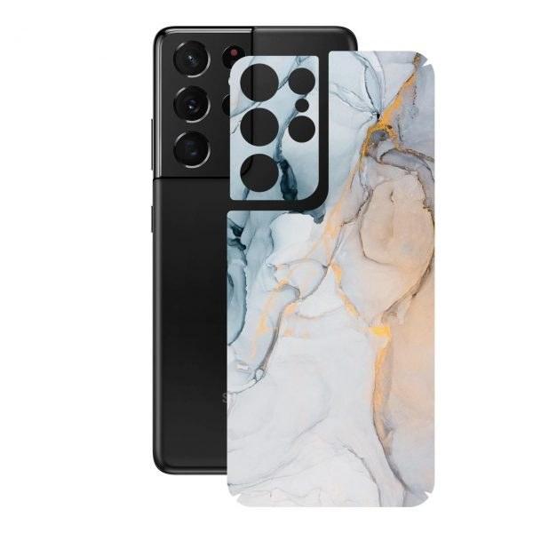 تصویر برچسب پوششی راک اسپیس طرح Marble-GD مناسب برای گوشی موبایل سامسونگ  Galaxy S21 Ultra