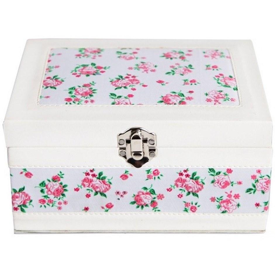 جعبه آرایشی چرم مدل گل دار کد 191029
