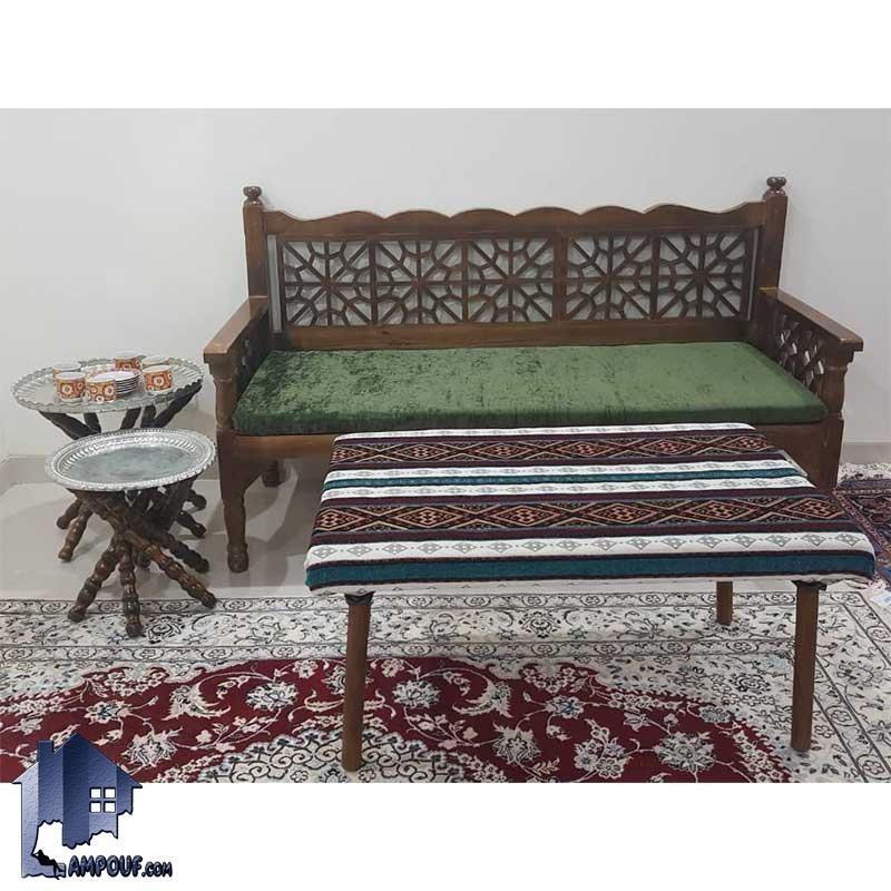 تصویر تخت سنتی سه نفره TrK269