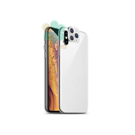 تصویر تبدیل لنز گوشی موبایل اپل iPhone X / XS به Apple 11 Pro Camera Lens Change Cover Sticker for Apple iPhone X / XS to iPhone 11 Pro