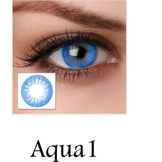 تصویر لنز رنگی چشم آبی دریایی لاکی لوک مدل Aqua 1