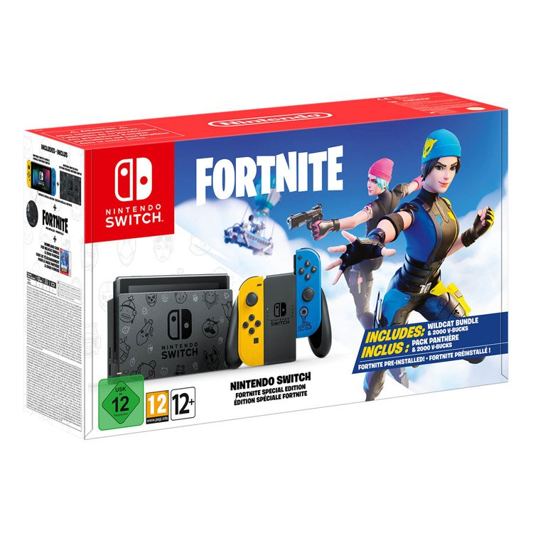 تصویر کنسول بازی Nintendo Switch – باندل Fortnite