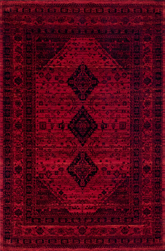 تصویر فرش رادین اصفهان طرح پتینه بلوچ 5 لاکچری اناری