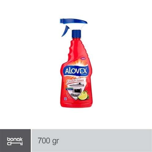 تصویر اسپری پاک کننده سطوح آشپزخانه با رایحه لیمو آلوکس - 700 گرمی Alovex Kitchen Surface Cleaner Spray - 700 gr