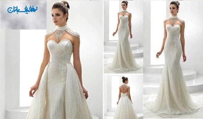 خرید لباس عروس شاین طرح ماهی مدل ایلدیز با ارزان ترین قیمت در مزون خانه سفید (White House) با ۵۰% تخفیف و |