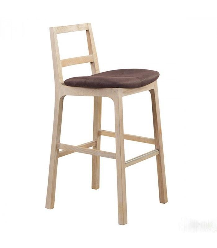 صندلی کانتر جهانتاب ایویا با روکش چرم