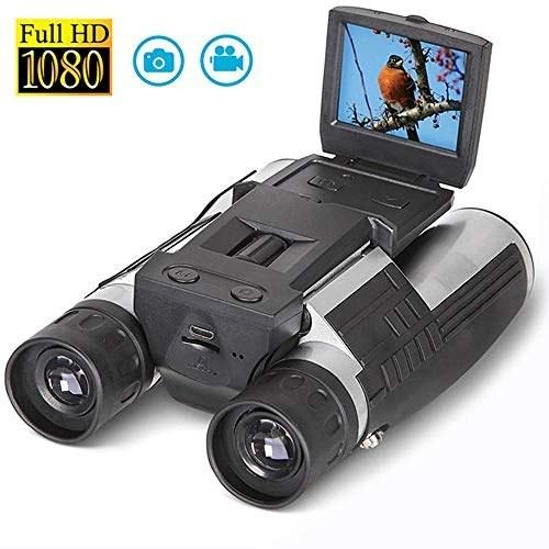 دوربین شکاری دوربین دیجیتال Womdee ، ضبط LCD 2 \u0026#39;\u0026#39; LCD 1080P 12X ضبط کننده عکس بزرگنمایی عکس ، دوربین 32G TF کارت پشتیبانی دوربین دوچشمی دیجیتال USB با دوربین برای تماشای پرندگان کنسرت های بازی های ورزشی در فضای باز