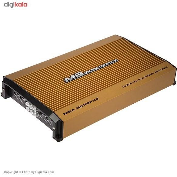 عکس آمپلی فایر خودرو ام بی آکوستیکس مدل MBA-6550FX2 MB Acoustics MBA-6550FX2 Car Amplifier امپلی-فایر-خودرو-ام-بی-اکوستیکس-مدل-mba-6550fx2
