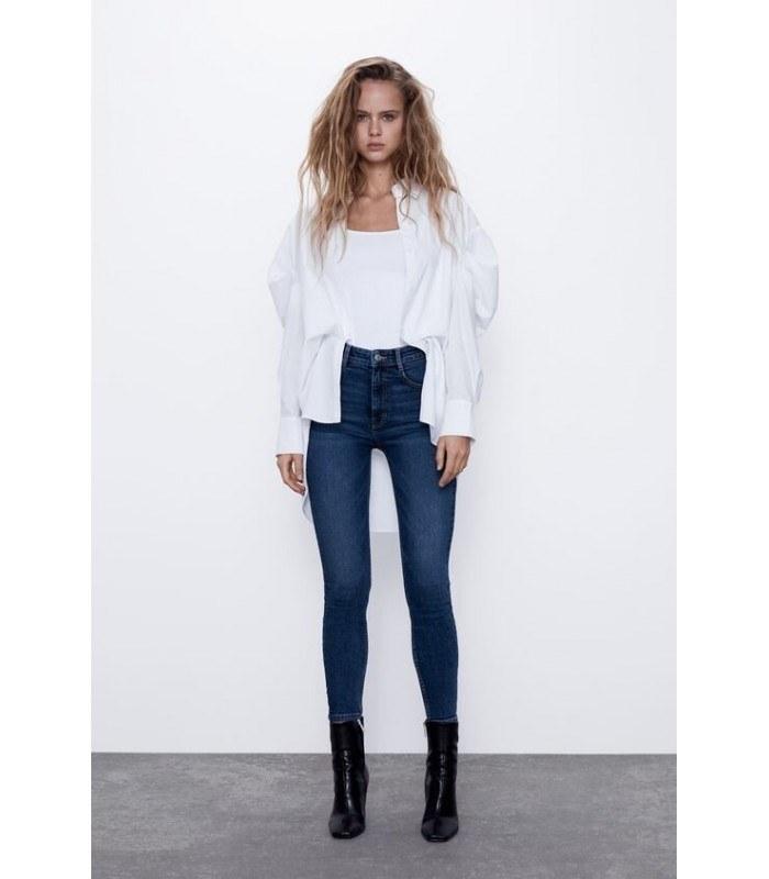 شلوار جین زنانه زارا مدل HI-RISE VINTAGE SKINNY JEANS