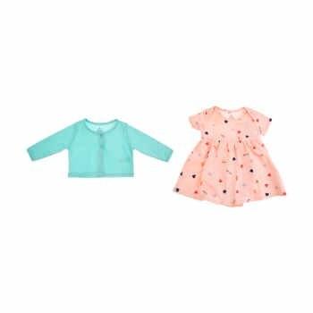 ست دو تکه لباس نوزادی دخترانه کد 654  
