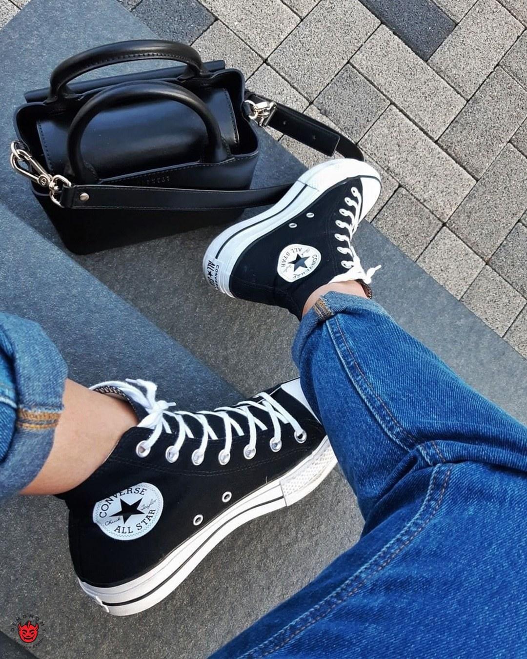 تصویر کفش Converse All Star ساق بلند مشکی