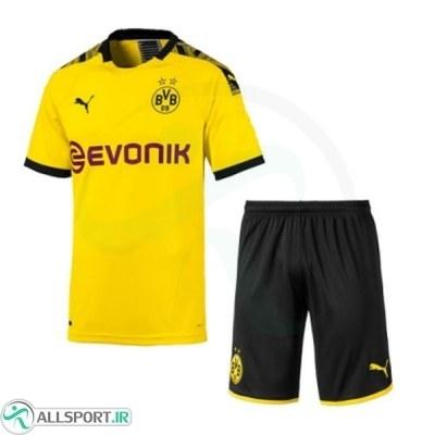 پیراهن شورت اول دورتموند Borussia Dortmund 2019-20 Home Soccer Jersey Kit Shirt+Short
