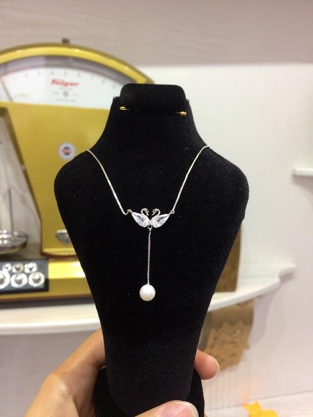 گردنبند نقره مروارید | Silver Necklace