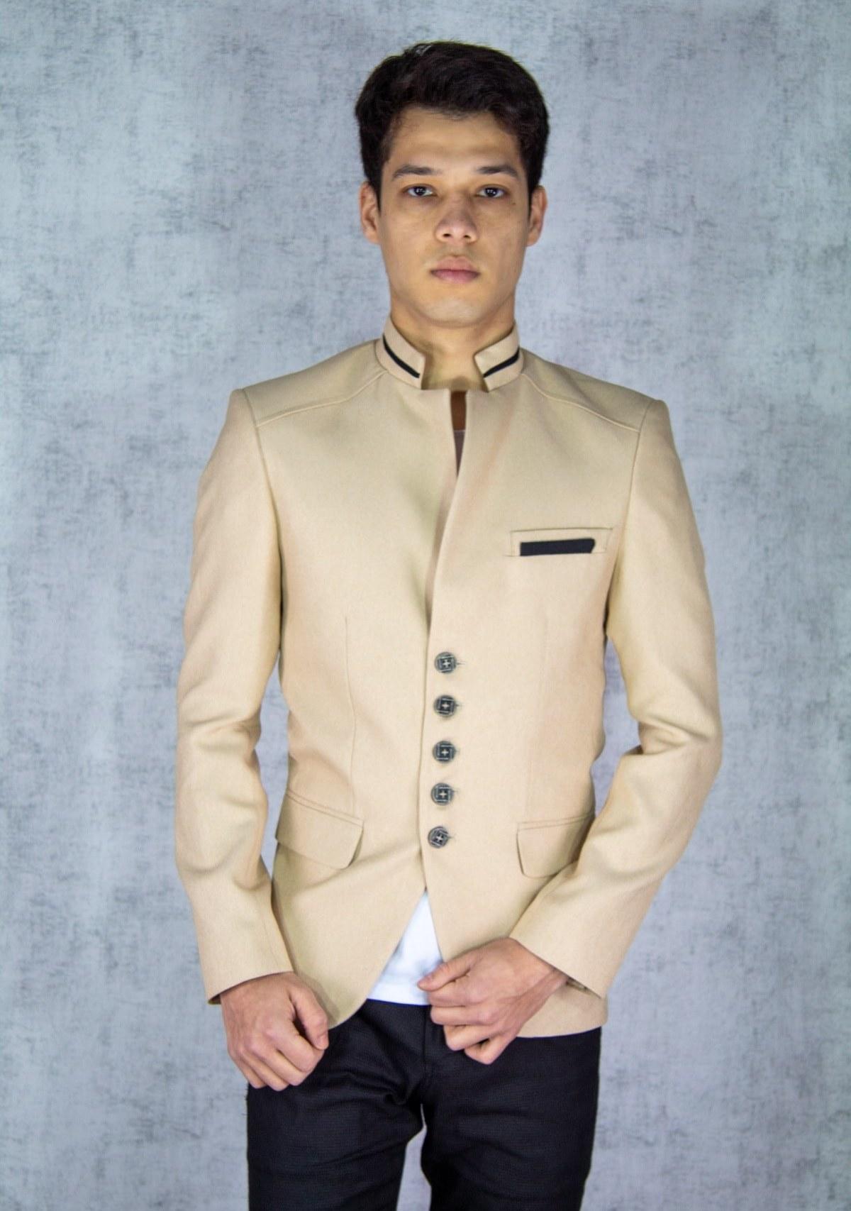 تصویر کت تک مردانه اسپرت برند twenplus رنگ بژ کد ty89178505