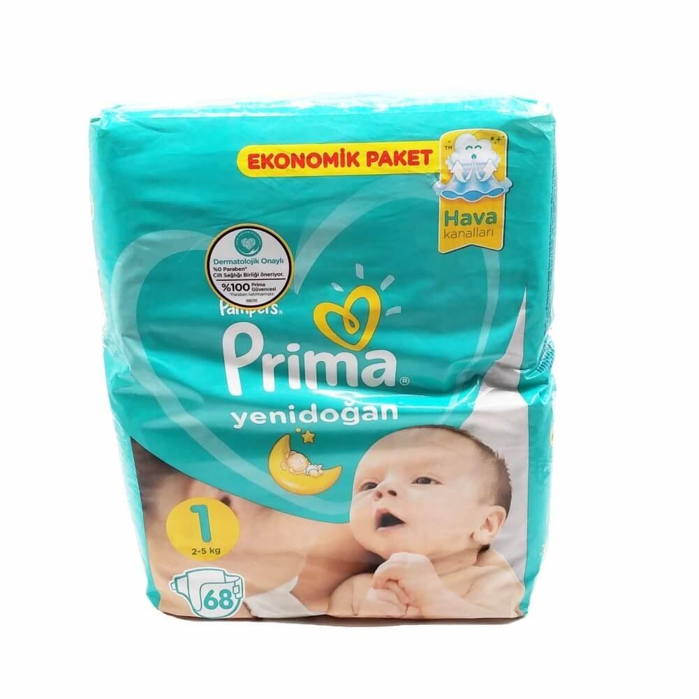 main images پوشک بچه پریما نوزاد سایز 1 بسته ی 68 عددی prima pampers size 1 Diaper Pack of 68