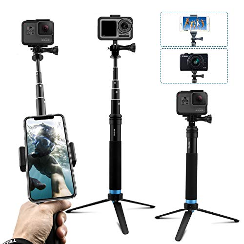 عکس AFAITH قطب به روزرسانی شده برای GoPro ، آلیاژ آلومینیوم Selfie Stick Tripod با ایستاده پایدار ضد آب دستی Monopod برای GoPro Hero 8/7/6/5/4 / دوربین اکشن Osmo / دوربین اکشن شیائو یی  afaith-قطب-به-روزرسانی-شده-برای-gopro-الیاژ-الومینیوم-selfie-stick-tripod-با-ایستاده-پایدار-ضد-اب-دستی-monopod-برای-gopro-hero-8-7-6-5-4-دوربین-اکشن-osmo-دوربین-اکشن-شیایو-یی