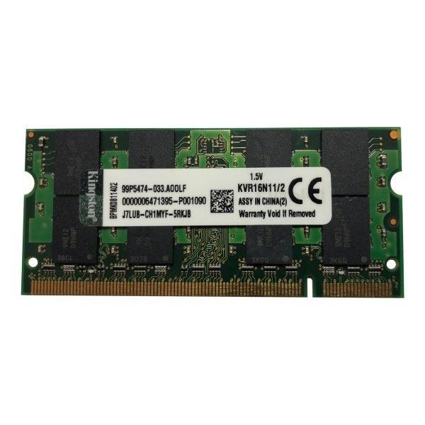 رم لپ تاپ کینگستون مدل DDR3 1600MHz ظرفیت 2 گیگابایت |
