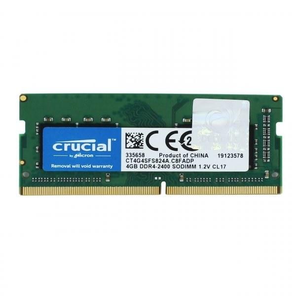 رم لپ تاپ کروشیال مدل DDR4 ، 2400MHZ ظرفیت 4 گیگابایت   Ram Laptop Crucial DDR4 2400MHZ Sodimm Ram 4GB