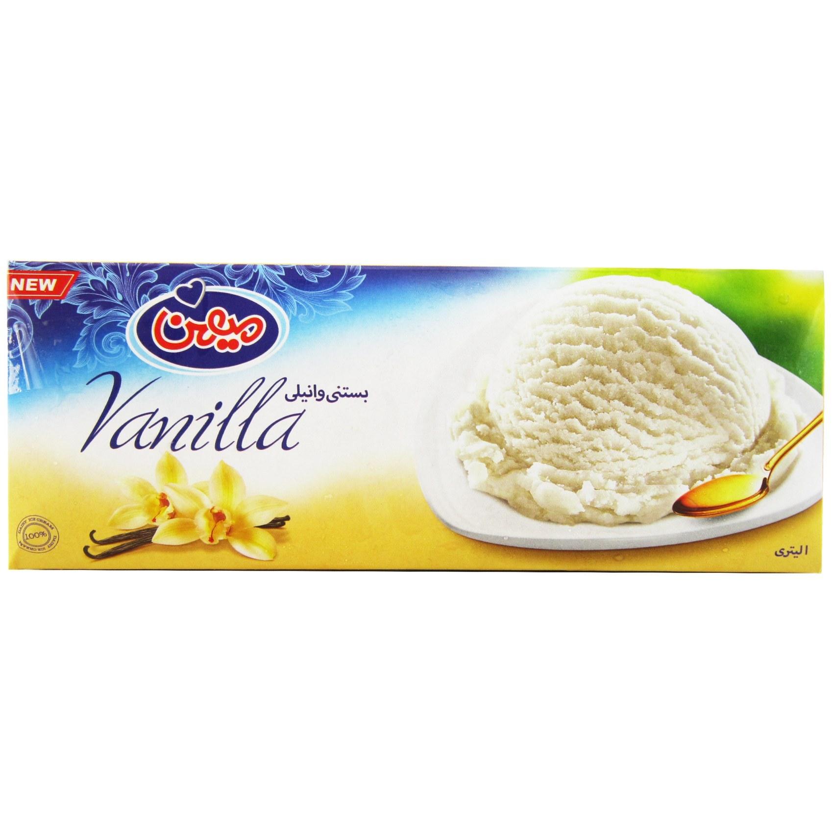 تصویر میهن-بستنی وانیلی 1 لیتر