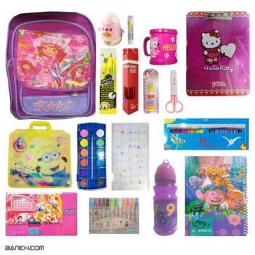 پکیج لوازم تحریر دخترانه لاکچری کلاس 2 تا 4 Luxury Package Girls   Luxury Stationery Package for Girls 2 to 4