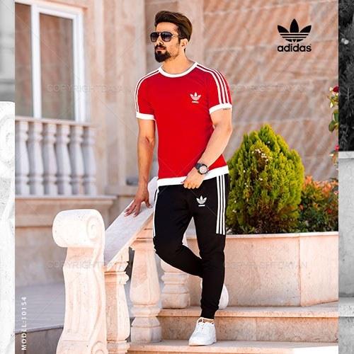 ست تیشرت و شلوار مردانه Adidas مدل 10154  