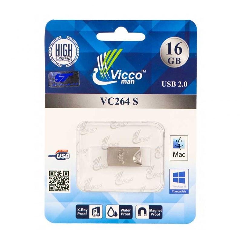 تصویر فلش مموری ویکومن مدل VC264 ظرفیت 16 گیگابایت Vicco men VC264 flash memory with a capacity of 16GB