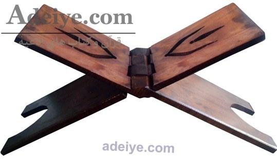 عکس رحل قرآن چوبی قهوه ای یک تیکه  رحل-قران-چوبی-قهوه-ای-یک-تیکه