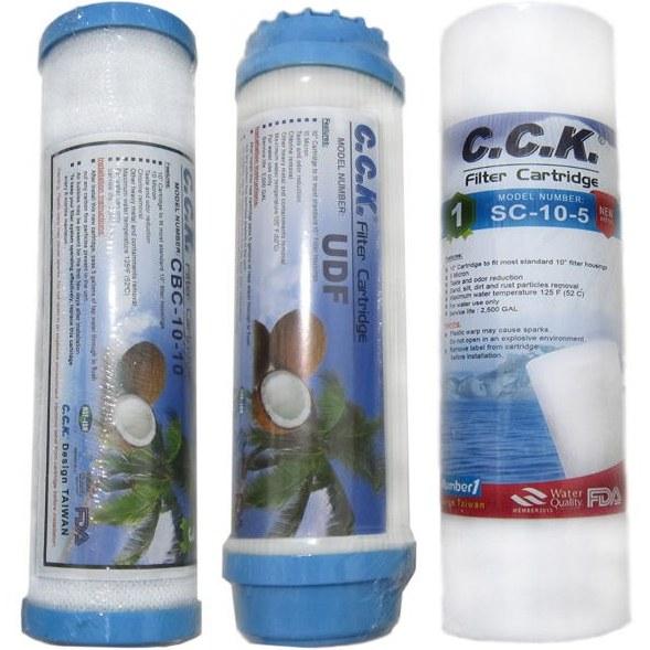 تصویر فیلتر دستگاه تصفیه آب خانگی C.C.K بسته سه عددی