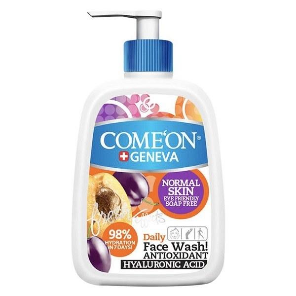 تصویر ژل شستشو صورت کامان مخصوص پوست های نرمال حجم 500 میل Normal Skin Wash ComeOn