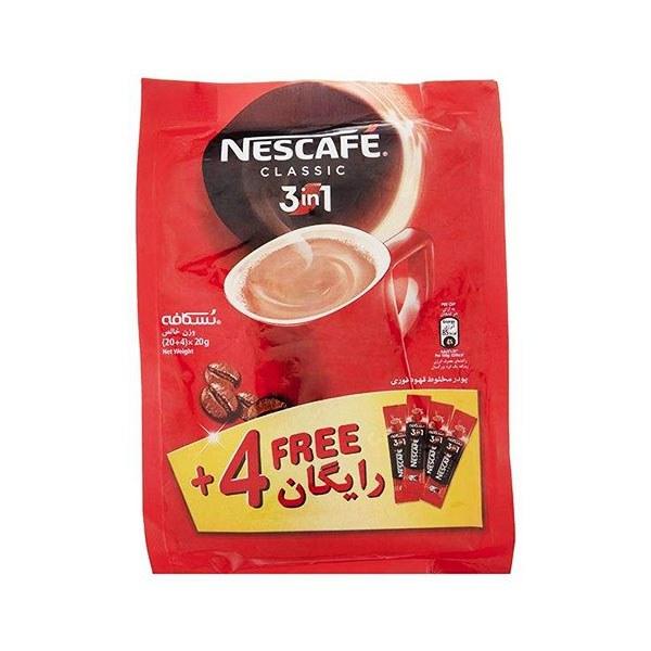 تصویر کافی میکس نسکافه 3 در 1 کیسه 24 عددی Nescafe