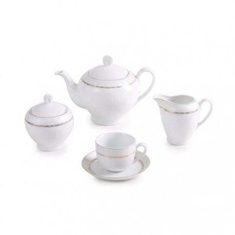 تصویر سرویس چینی زرین 6 نفره چای خوری هدیه طلایی (17 پارچه) ا Zarin Iran ItaliaF Gift Gold 17 Pieces Porcelain Tea Set Zarin Iran ItaliaF Gift Gold 17 Pieces Porcelain Tea Set